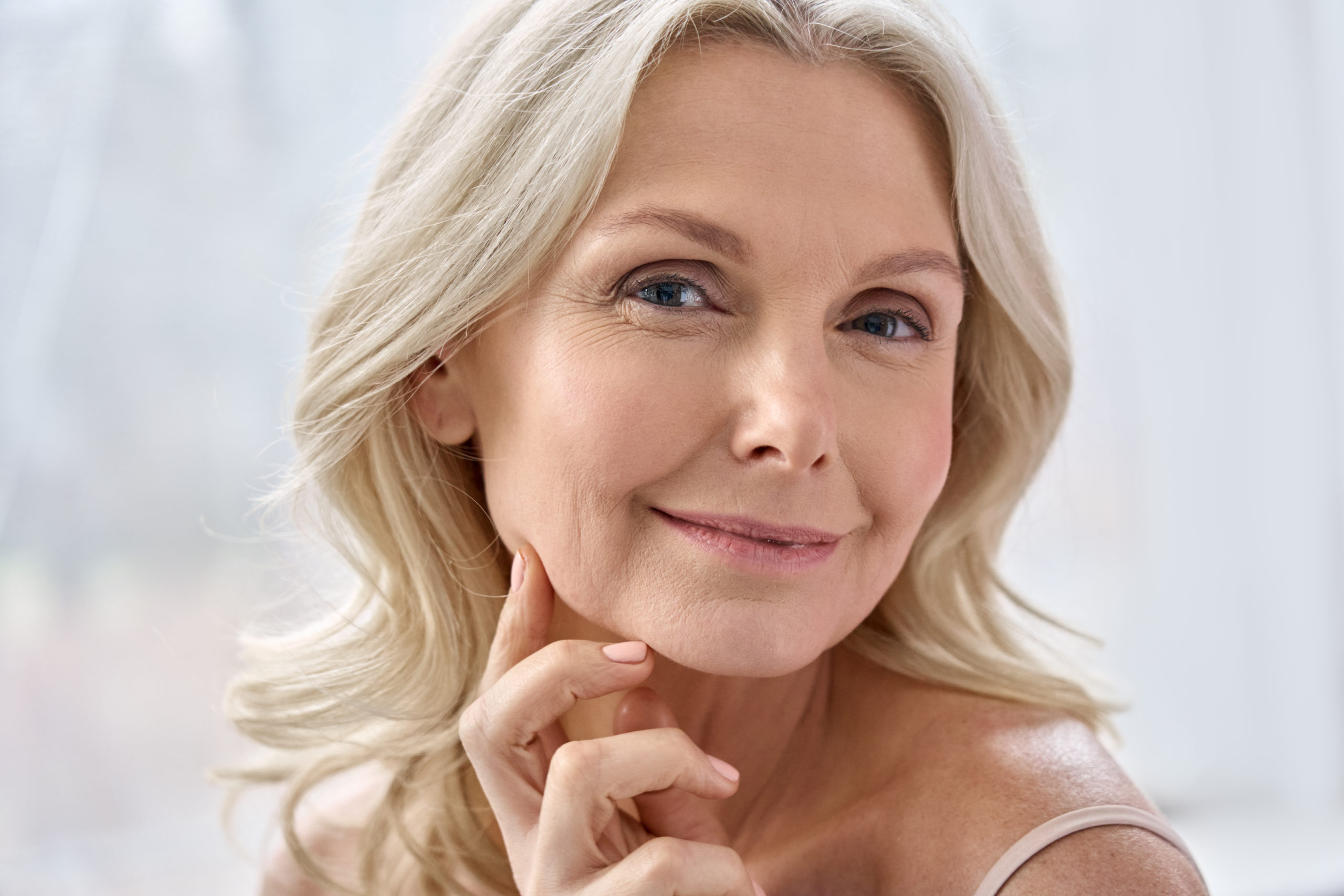 smiling,happy,attractive,50s,middle,aged,mature,blond,woman,,old